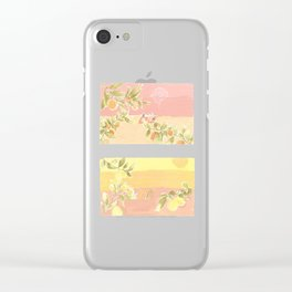 Sunrise Lovers Clear iPhone Case