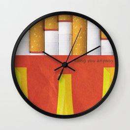 Unhappy Meal Wall Clock