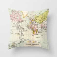 Colonial Possessions of the European Powers at the present time Throw Pillow