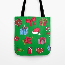 Christmas pattern (#1 green) Tote Bag