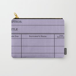LiBRARY BOOK CARD (violet) Carry-All Pouch