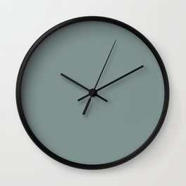 Light Muted Green Inspired By PPG Glidden Scarborough Green PPG1145-5 Solid Color Wall Clock