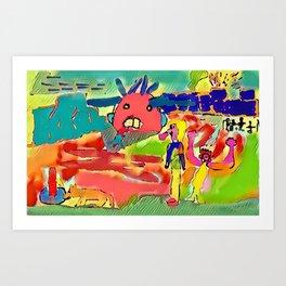 Pimps Art Print