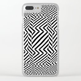 Tribute to Vasarely 6 -visual illusion- Clear iPhone Case
