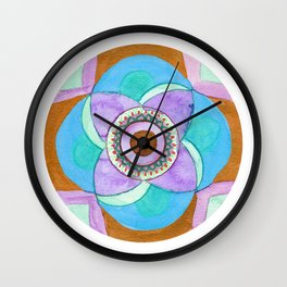A View from Within Mandala Wall Clock