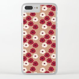 Poppies For Remembrance Clear iPhone Case