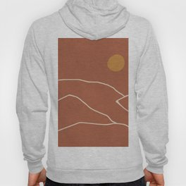 Minimal Abstract Art Landscape 2 Hoody
