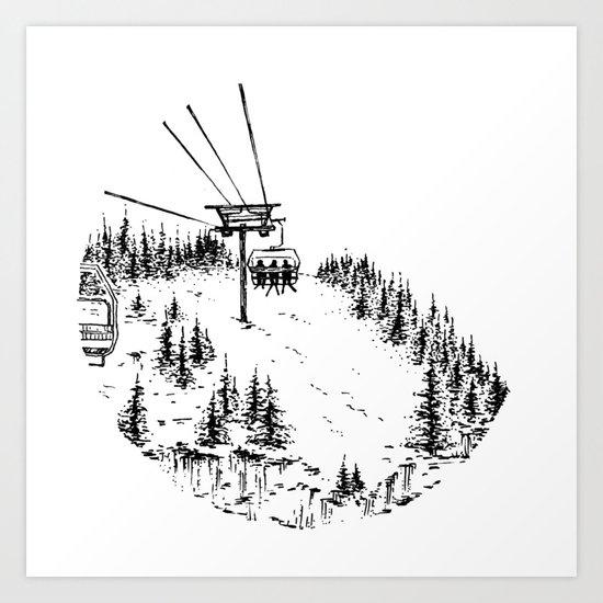 Ski Lift by cassgrummer