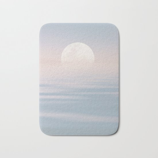 Moon and calm waters Bath Mat