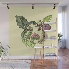 Botanical Pig Wall Mural