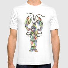 Lobster MEDIUM White Mens Fitted Tee