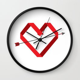 Paper Love Wall Clock