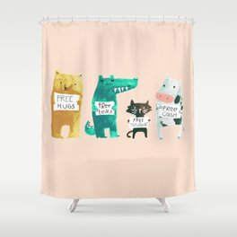 Animal idioms - its a free world Shower Curtain