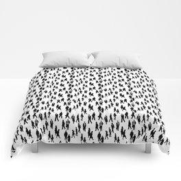 crowd pattern Comforters