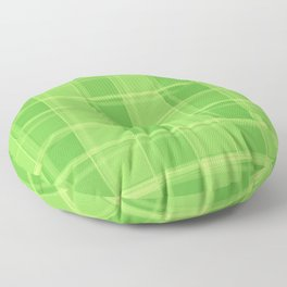 Delicate strokes of intersecting green cells with jagged stripes and lines. Floor Pillow