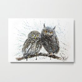 little owl's Metal Print
