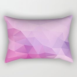 Triangles design in pink and purple colors Rectangular Pillow