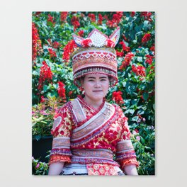 Traditional Village Tribe Dress, Doi Pui, Chiang Mai, Thailand Canvas Print