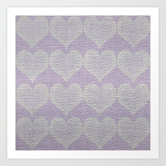 Heart Fabric Art Print