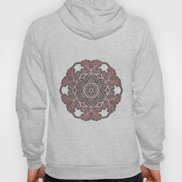 Rose Gold & Grey Mandala Hoody