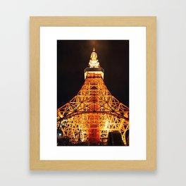 Tokyo Tower From Below Framed Art Print