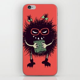 Evil Bug Student Loves To Read iPhone Skin