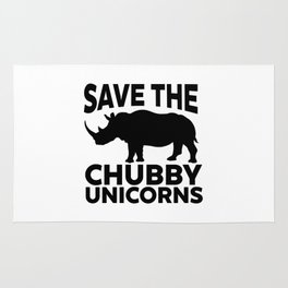 Save The Chubby Unicorns Funny Rug