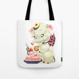 Baby Elephant eating Ice Cream Tote Bag