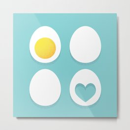 Eggs and hearts Metal Print
