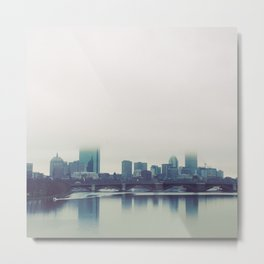 Boston Charles River Fog Metal Print