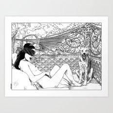 asc 416 - L'animal de compagnie (Wild pet) Art Print