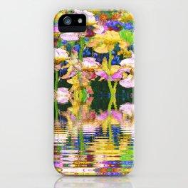 YELLOW IRIS WATER GARDEN REFLECTIONS iPhone Case