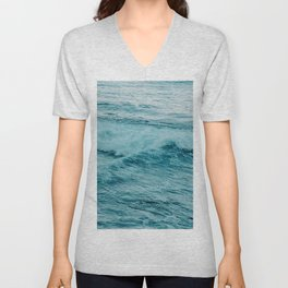 Calming Ocean Waves Unisex V-Neck