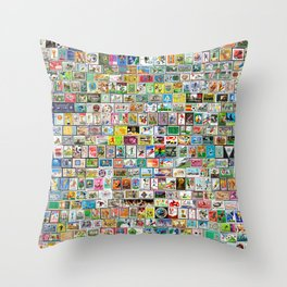 The Soccer Stamp Throw Pillow