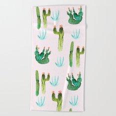 A Couple of Cacti Beach Towel