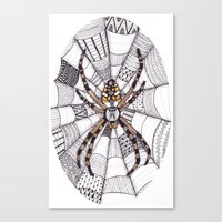 spider Canvas Prints featuring Spider by Laura Maxwell