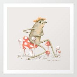 Awkward Toad Art Print