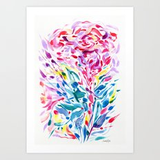 Abstract Roses 2 Art Print