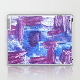 Royal purple abstract watercolor Laptop & iPad Skin