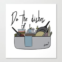 Do the dishes Canvas Print