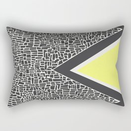 Abstract Mountain Range Rectangular Pillow