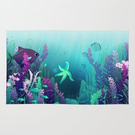 Deep down in the water Rug