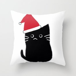 Merry Christmas cat 600 Throw Pillow