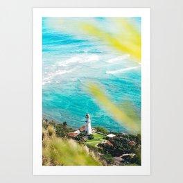 Diamond Head Lighthouse, HI Art Print