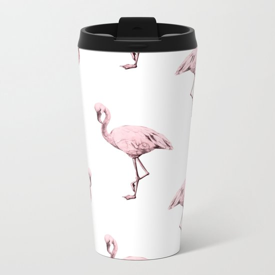 Simply Pink Flamingo in Pink Flamingo Metal Travel Mug