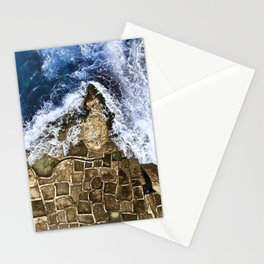 An abstract of the ocean and the coastal rocks. Stationery Cards