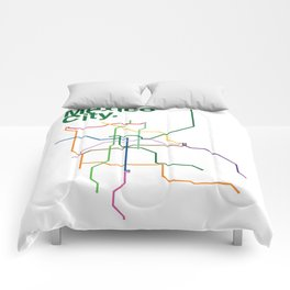 Mexico City Transit Map Comforters