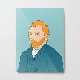 Van Gogh- Illustration Metal Print