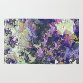 Purple and Green Abstract Garden Rug