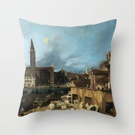 Canaletto The Stonemason's Yard Throw Pillow